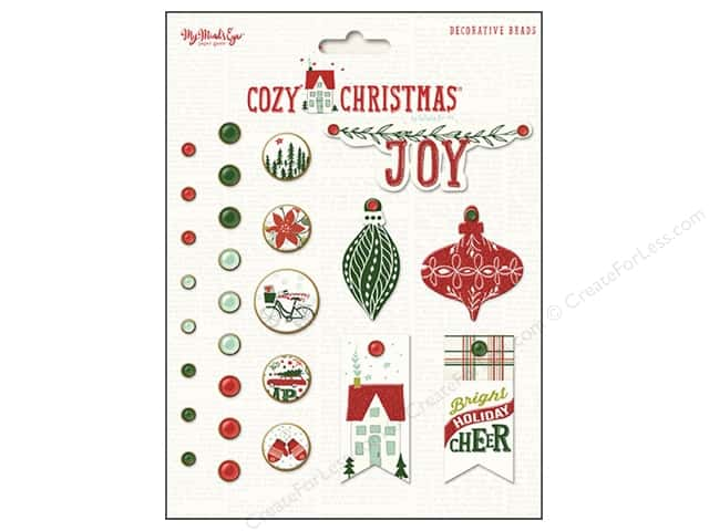 My Minds Eye Collection Cozy Christmas Deco Brads