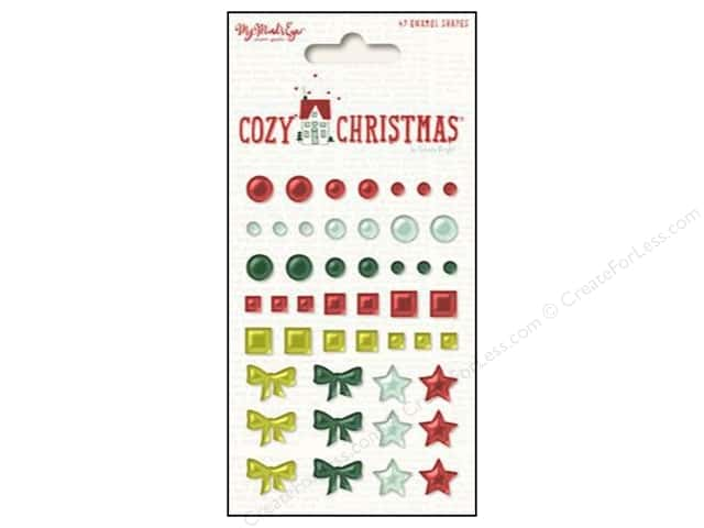 My Minds Eye Collection Cozy Christmas Enamel Shapes