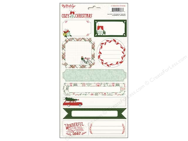 My Minds Eye Collection Cozy Christmas Sticker Labels (12 sets)