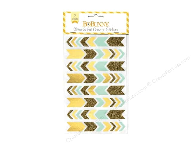 Bo Bunny Stickers Calendar Girl Collection Glitter & Foil Chevron