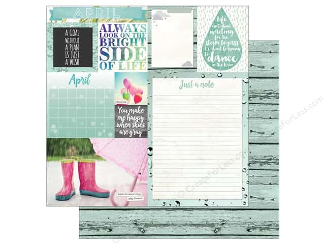 Bo Bunny 12 x 12 in. Paper Calendar Girl Collection April (25 sheets)