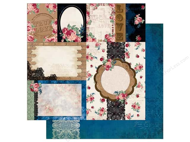 Bo Bunny 12 x 12 in. Paper Love & Lace Passion (25 sheets)