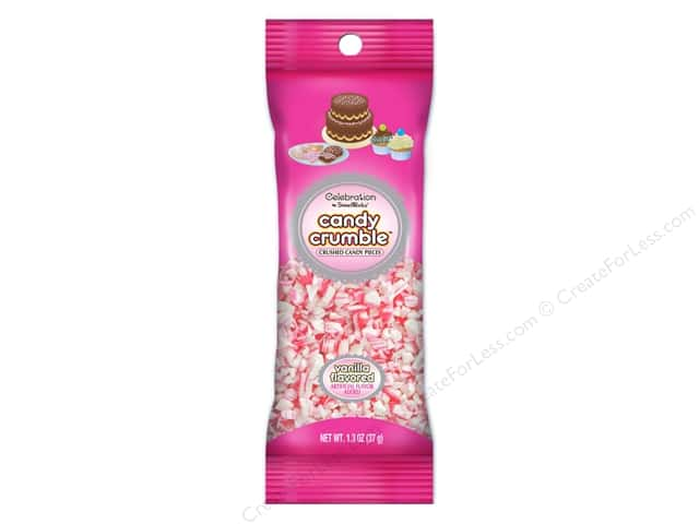 SweetWorks Celebration Candies Candy Crumble 1.3oz Pink White