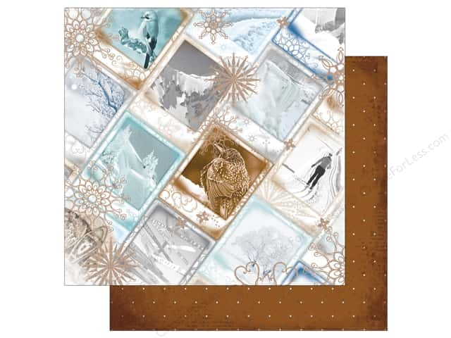 Bo Bunny 12 x 12 in. Paper Whiteout Glitter Arctic Rim (25 sheets)