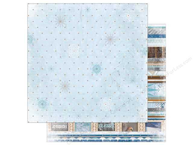 Bo Bunny 12 x 12 in. Paper Whiteout Glitter Frozen (25 sheets)