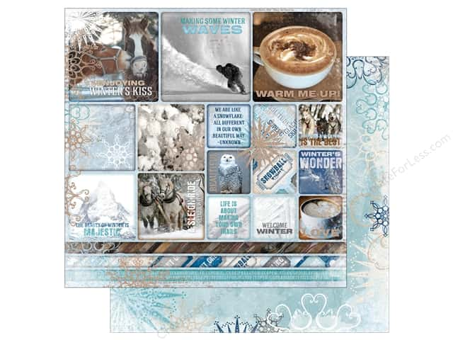 Bo Bunny 12 x 12 in. Paper Whiteout Winter Solstice (25 sheets)