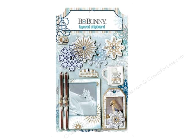 Bo Bunny Layered Chipboard Stickers Whiteout