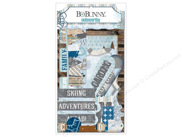 Bo Bunny Noteworthy Journaling Cards Whiteout