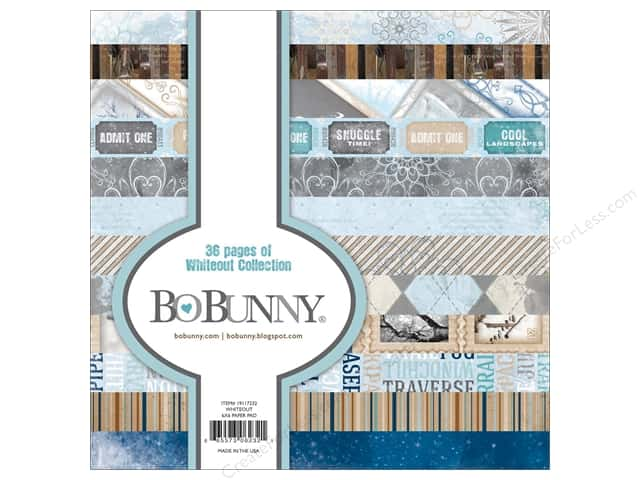 Bo Bunny 6 x 6 in. Paper Pad Whiteout