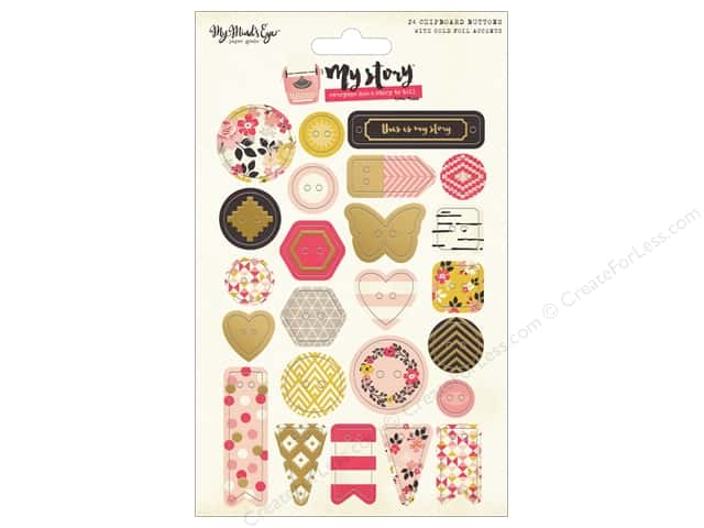 My Minds Eye Collection My Story Chipboard Button