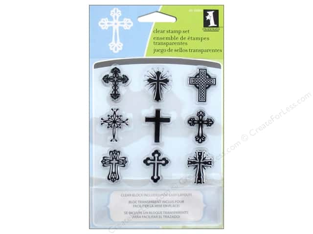Inkadinkado InkadinkaClings Clear Stamp Crosses Inchies Bundle