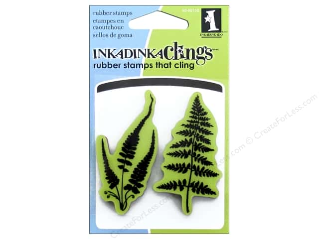 Inkadinkado Stamp Inkadinkaclings Mini Ferns