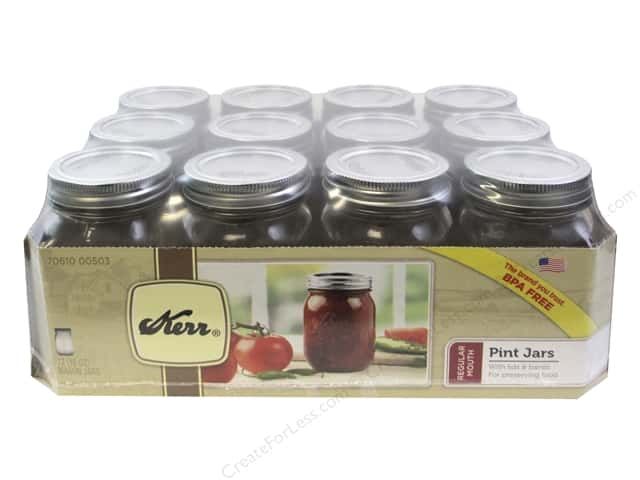 Kerr Jars Mason Regular w/Cap Pint