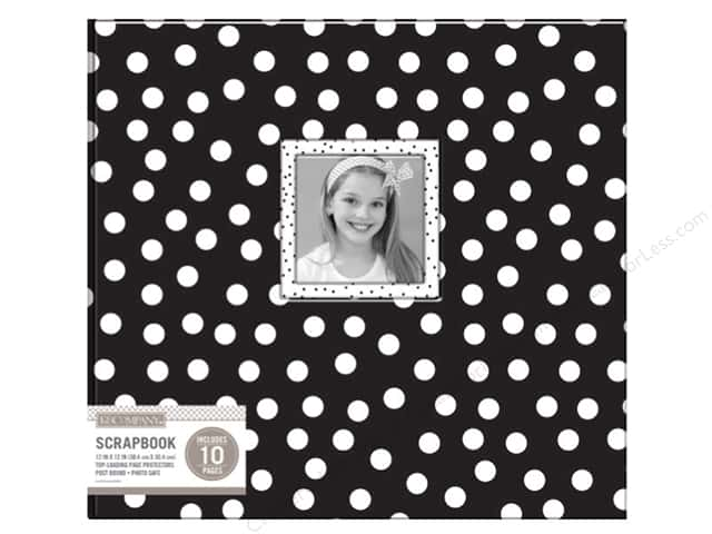 "K&Company Scrapbook Album 12""x 12"" Window Dots Black/White"