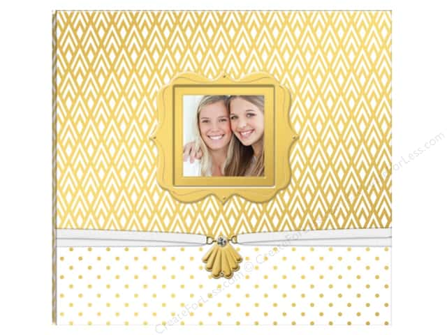 "K&Company Scrapbook Album 12""x 12"" Gold/White Boxed"