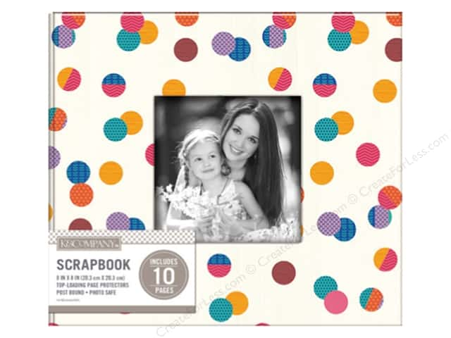 "K&Company Scrapbook Album 8""x 8"" Window Dot Multi"