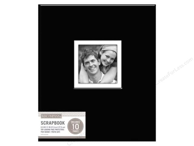 K & Company 8 1/2 x 11 in. Scrapbook Window Album Fabric Black