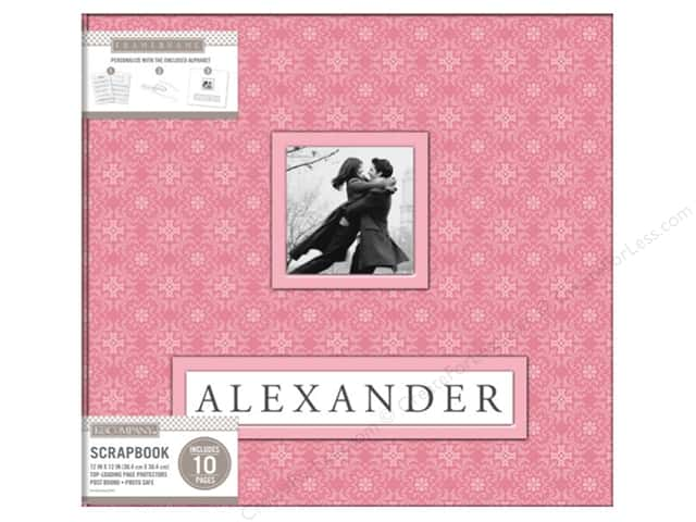 K & Company 12 x 12 in. Scrapbook Frame A Name Album Pink