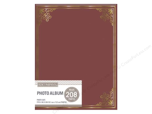 K&Company Photo Album Basic Library 2 Up Burgundy