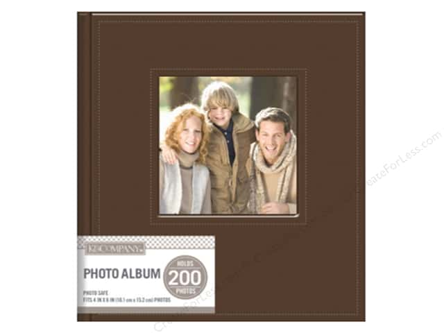 K&Company Photo Album Memo Faux Leather Stitched 2 Up Brown