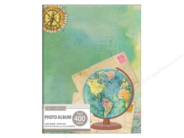 K&Company Photo Album Memo Binder 2 Up Travel Map