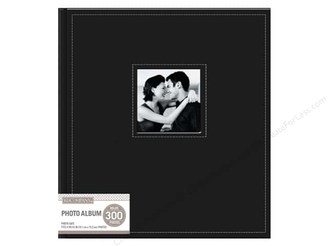 K&Company Photo Album Faux Leather Stitched 5 Up Black