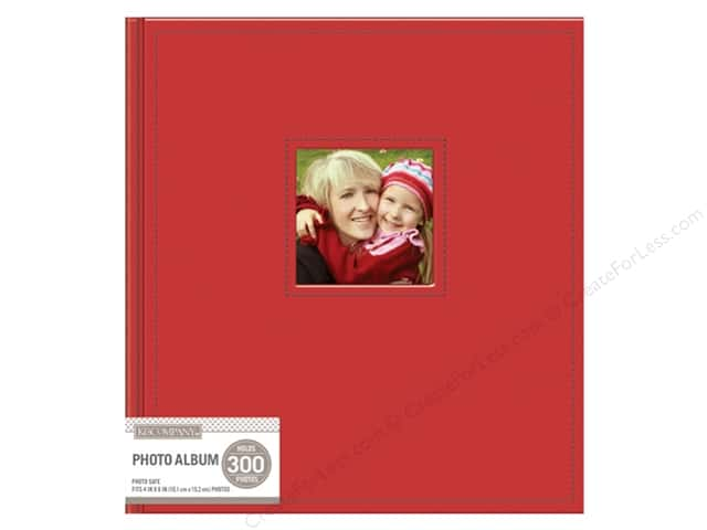 K&Company Photo Album Faux Leather Stitched 5 Up Red