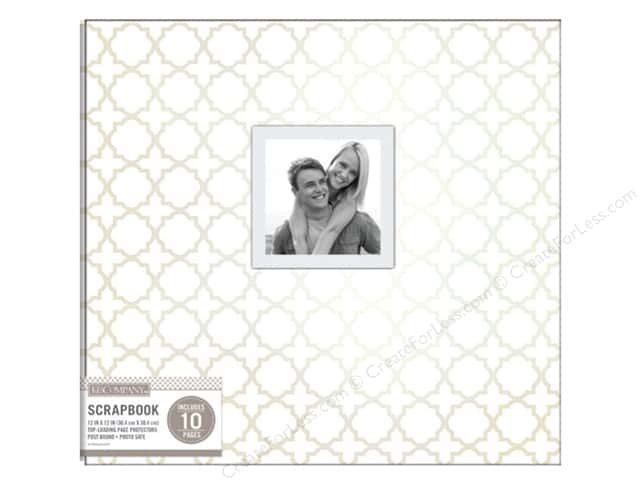 K & Company 12 x 12 in. Scrapbook Window Album Quatrefoil Pearl White