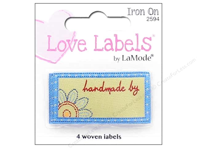 Blumenthal Iron-On Lovelabels 4 pc. Handmade By