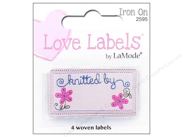 Blumenthal Iron-On Lovelabels 4 pc. Knitted By