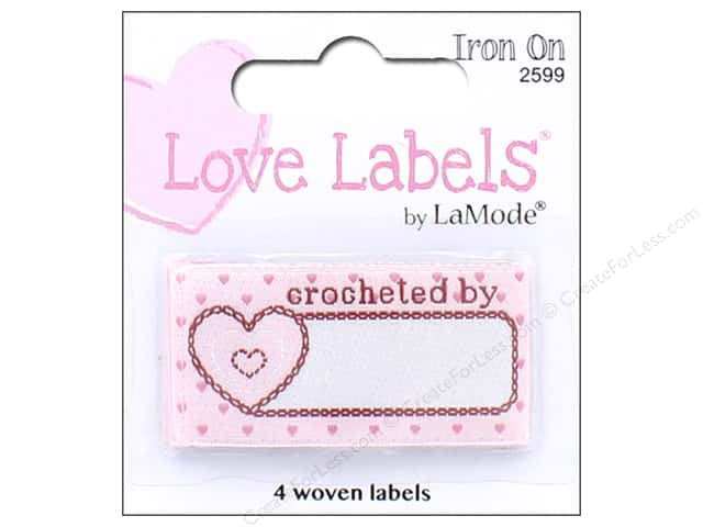 Blumenthal Iron-On Lovelabels 4 pc. Crocheted By