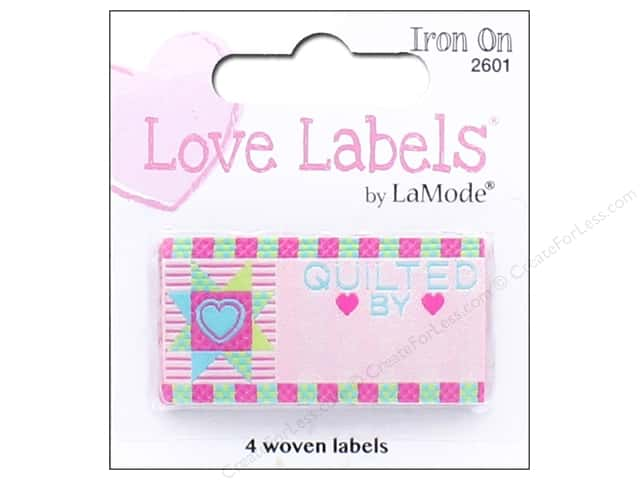 Blumenthal Iron-On Lovelabels 4 pc. Quilted By