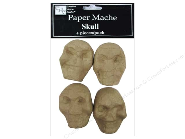 Paper Mache Skulls 4 pc. by Craft Pedlars