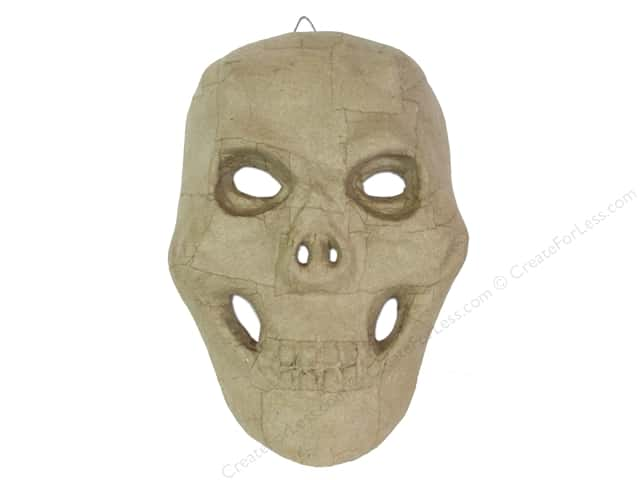 Paper Mache Skull Mask 10 in. by Craft Pedlars