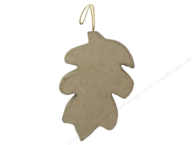 PA Paper Mache Flat Leaf Ornament 4 1/2 in.