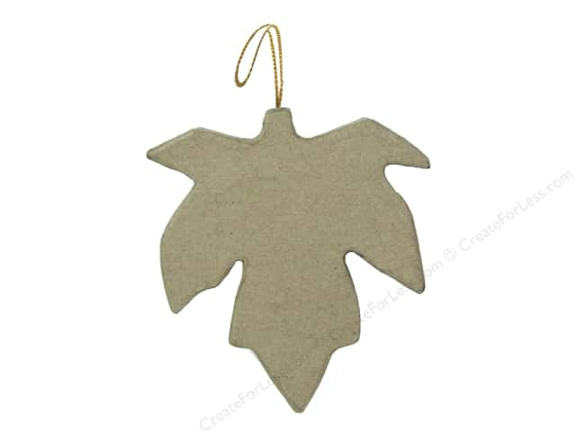PA Paper Mache Ornament Flat Maple Leaf 4 1/4 in.