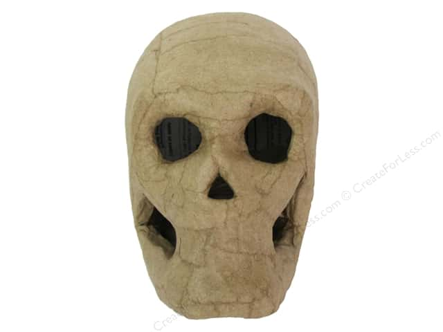 Paper Mache Skull 4 in. by Craft Pedlars
