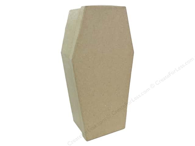 PA Paper Mache Large Coffin Box 10 in.