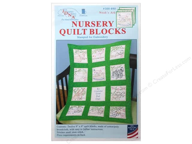 Jack Dempsey 9 in. Quilt Blocks 12 pc. Noah's Ark