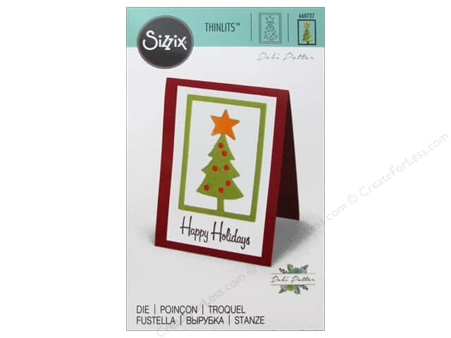 Sizzix Thinlits Die 1 pc. Christmas Trees #2