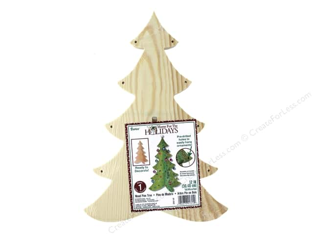 Darice Unfinished 3D Wood Pine Tree