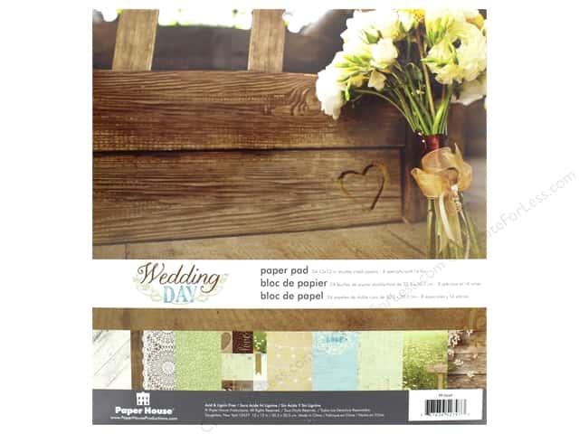 """Paper House Paper Pad 12"""" Wedding Day"""