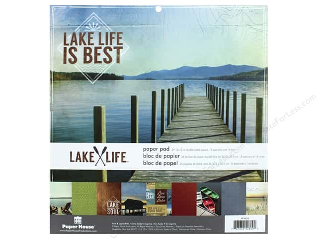 "Paper House Paper Pad 12"" Lake Life"
