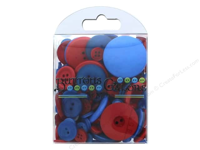 Buttons Galore Button Totes 3.5 oz. Blue & Red