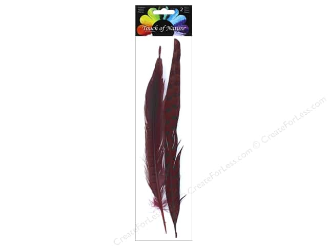 Midwest Design Pheasant Feather 2 pc. 10 - 12 in. Cordovan