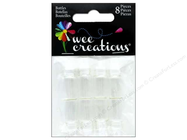 "Midwest Design Embellishment Wee Creations Wishing Bottle 1"" 8pc"