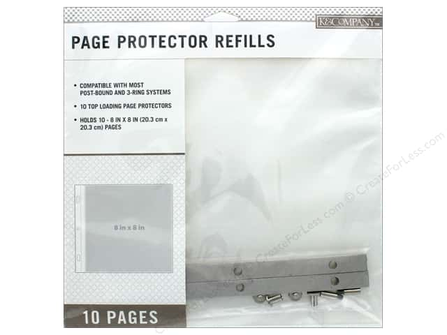 K & Company 8 x 8 in. Page Protector Refills 10 pc.