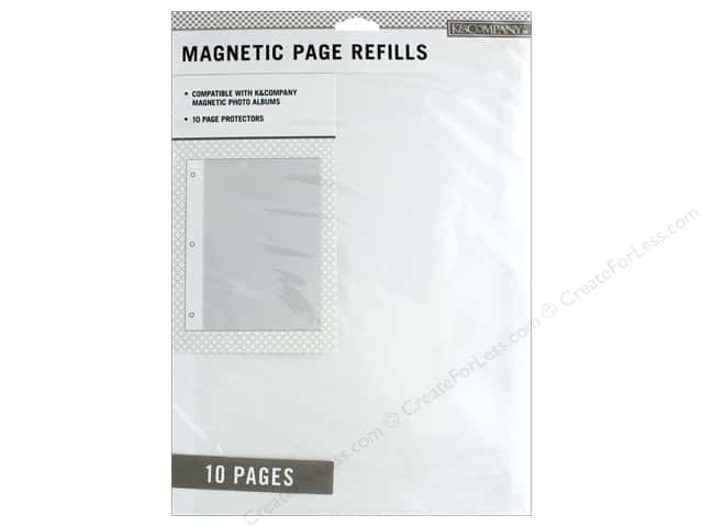 K&Company Page Protector Refill Kit Photo Album Magnetic 10pc