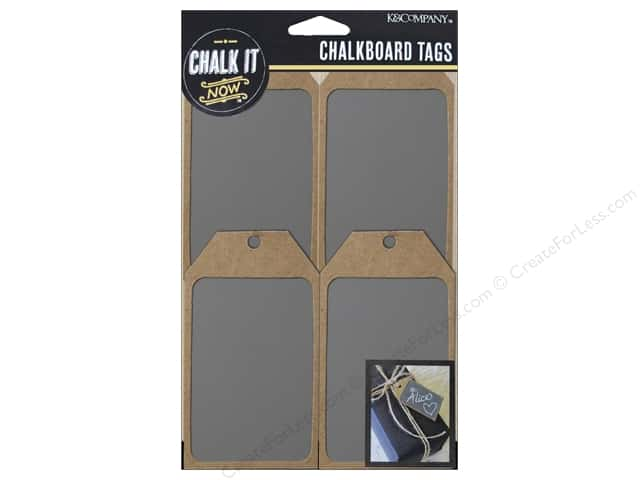 K&Company Chalk It Now Chalkboard Tags Wooden Grey