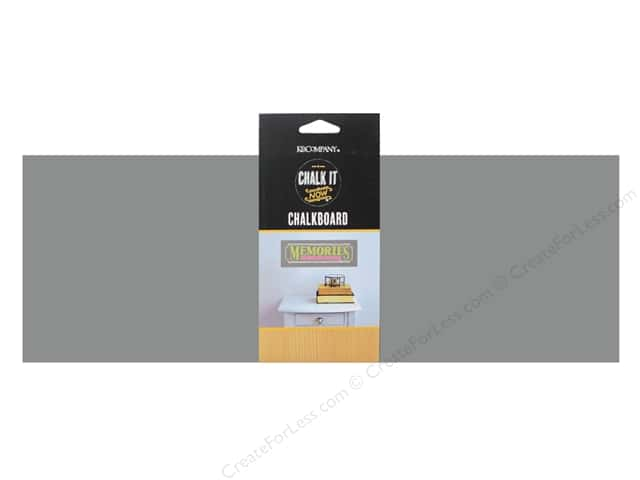 K&Company Chalk It Now Chalkboard Banner Rectangle Grey